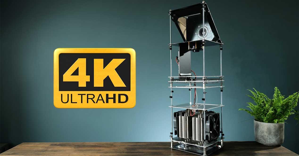 proyector 4k casero