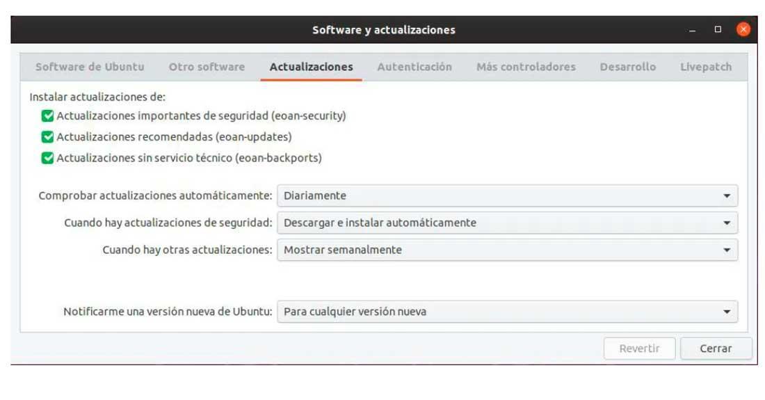 Actualizar Linux - Ubuntu