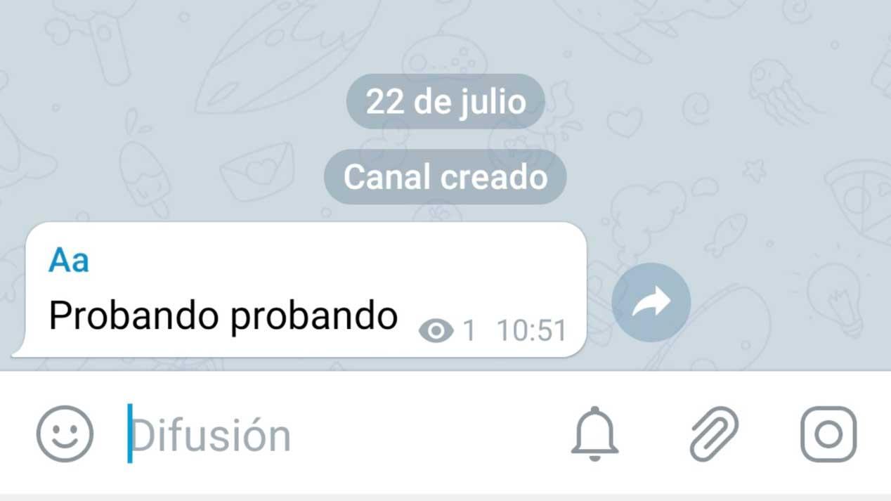 canal privado de Telegram - Prueba