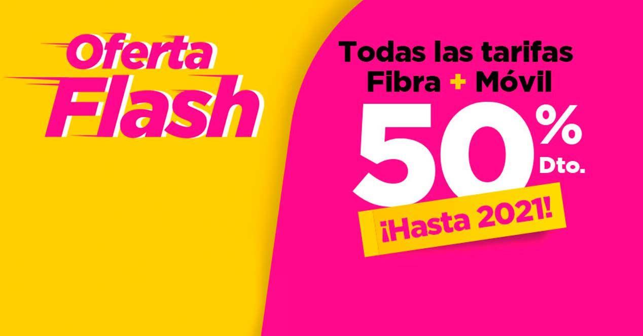 jazztel 50 descuento flash