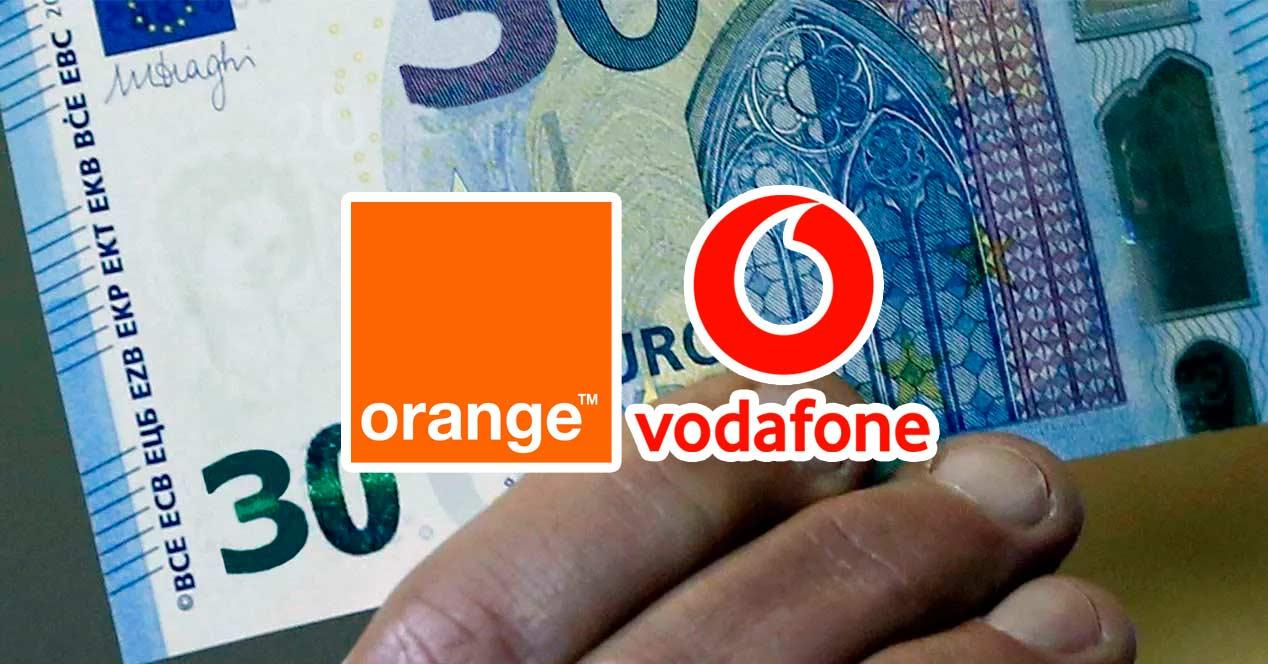 orange vodafone 30 euros