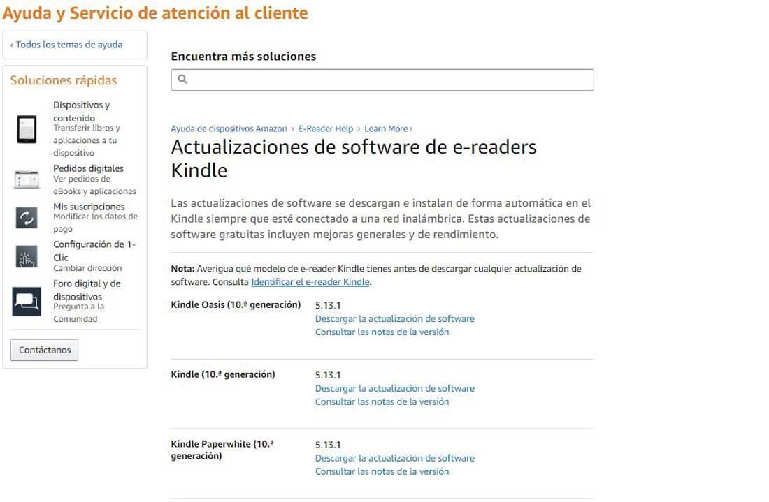 No lee Kindle Actualizacion