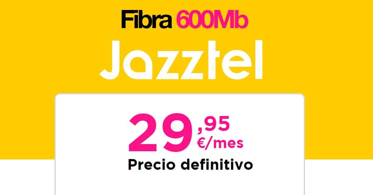 fibra jazztel 600 mbps