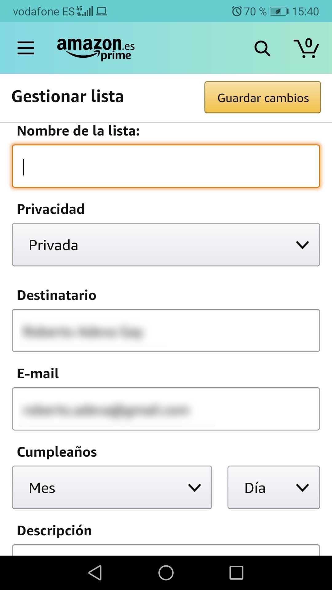 lista de deseos Amazon