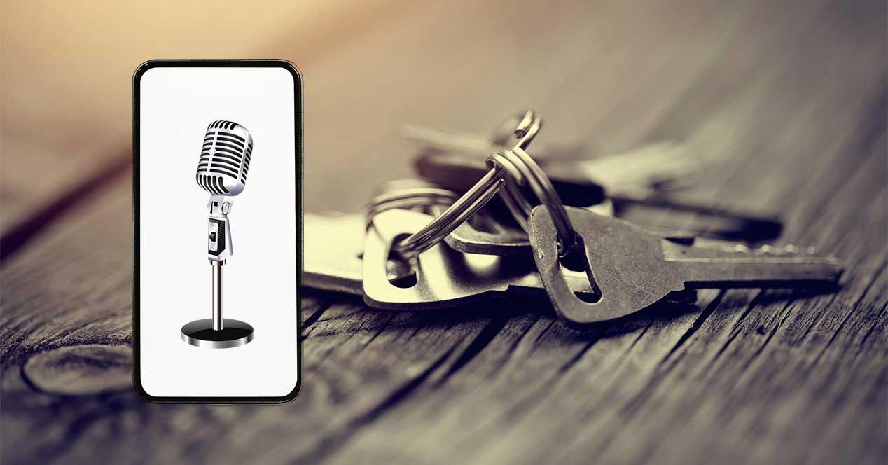 llaves microfono