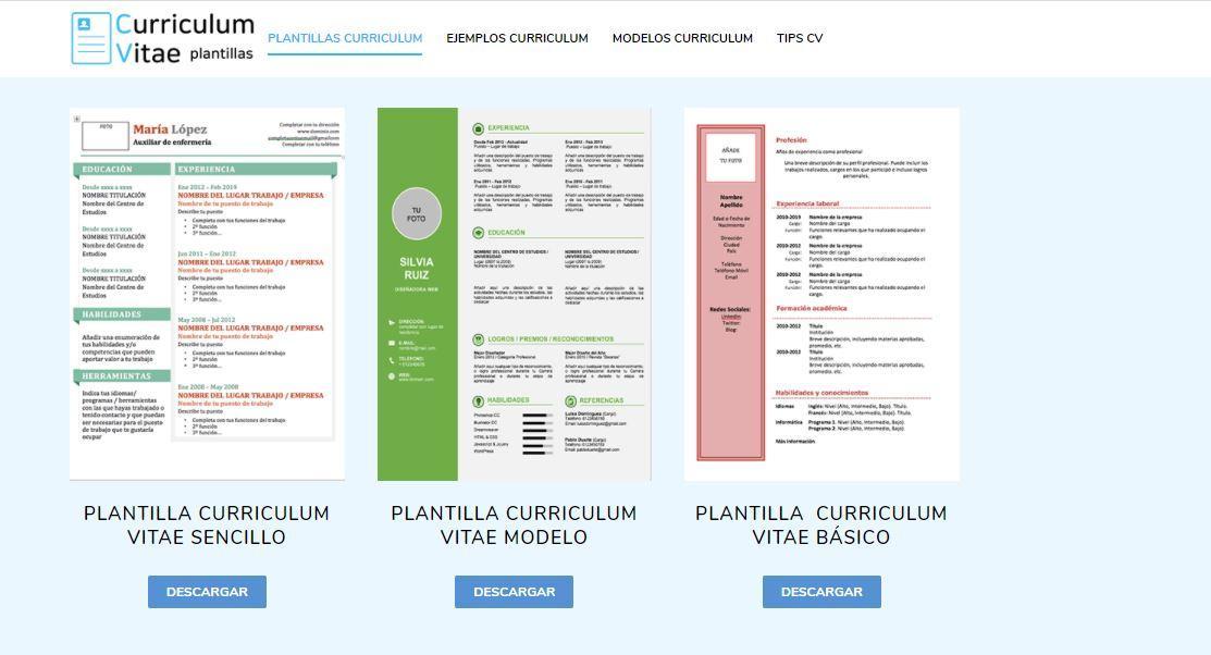 Plantillas para curriculum