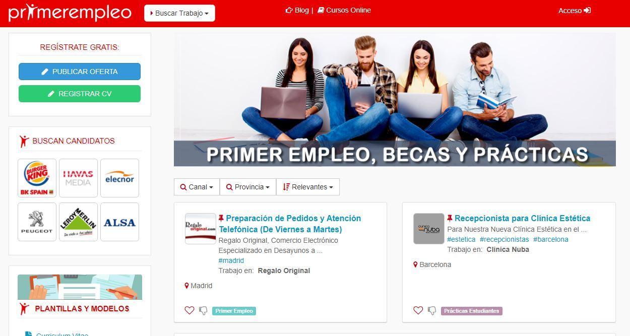 Web primer empleo
