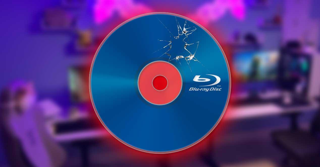 blu-ray roto defectuoso