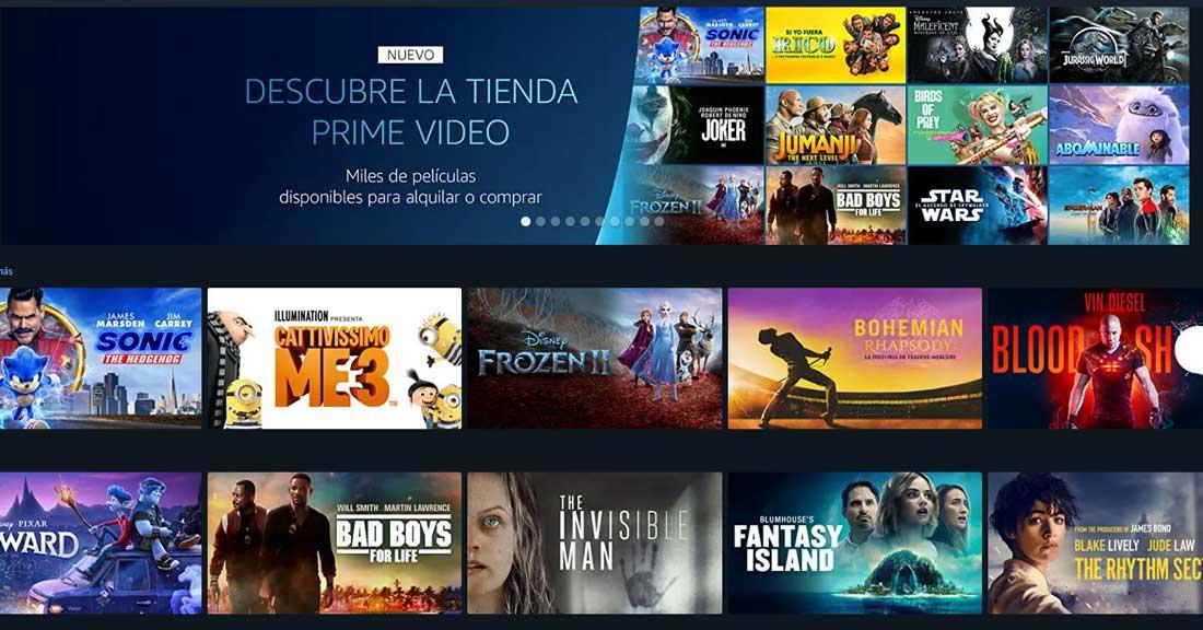 alquilar películas en Amazon