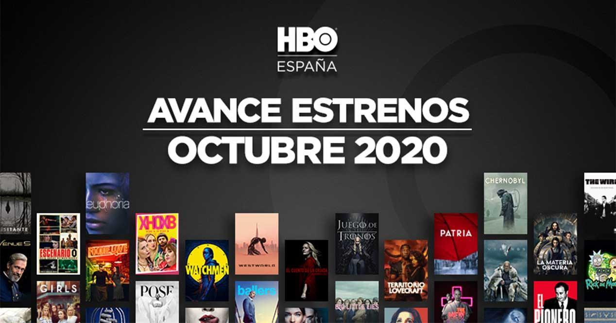 hbo estrenos octubre 2020