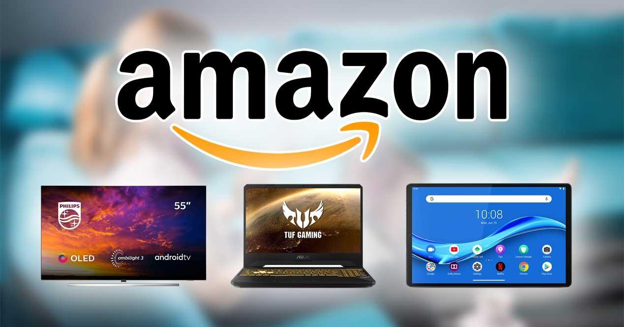 ofertas amazon portatiles tablet smart tv oled