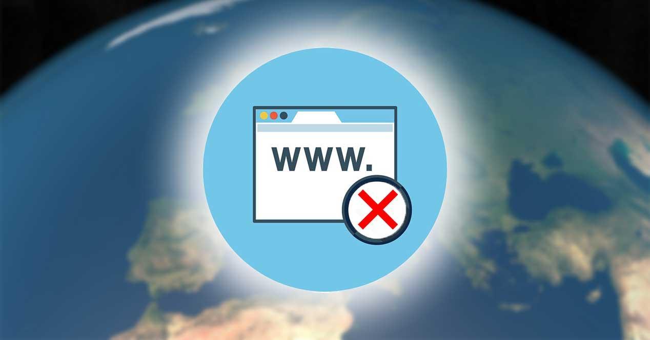 pagina web dominio prohibido