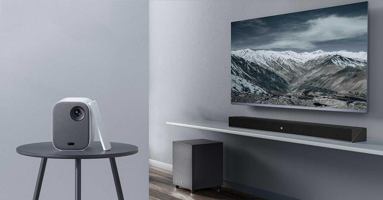 xiaomi proyector barra de sonido
