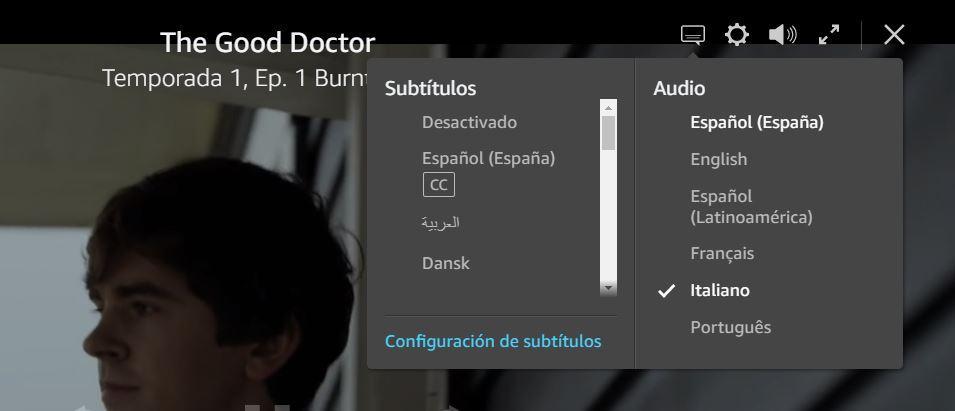 Ändern Sie die Untertitelsprache