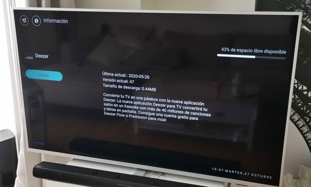 TV inteligente Philips Deezer na philips