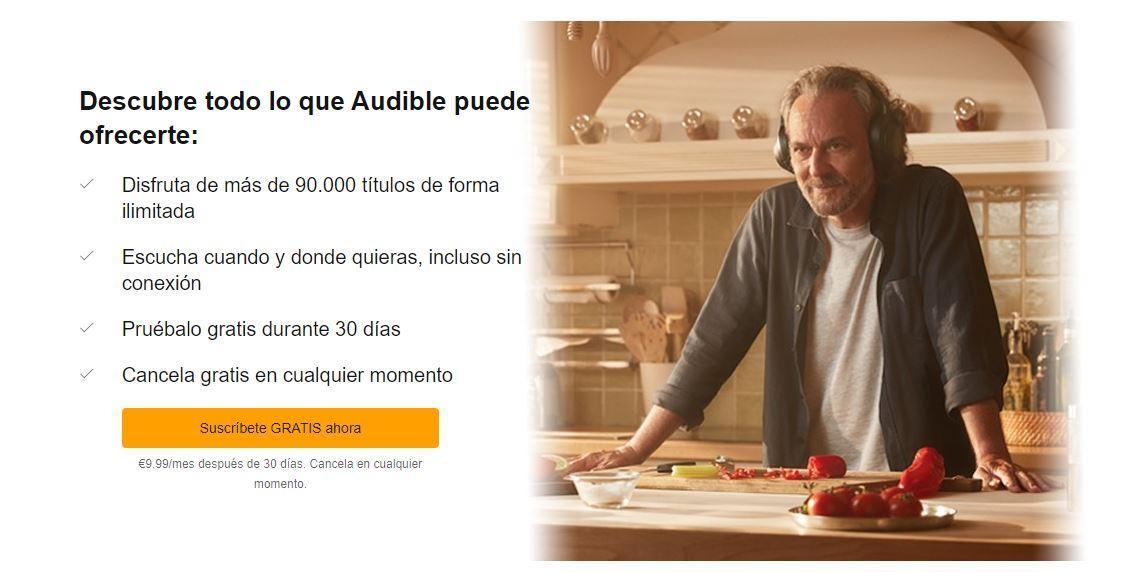 Precio de Audible España