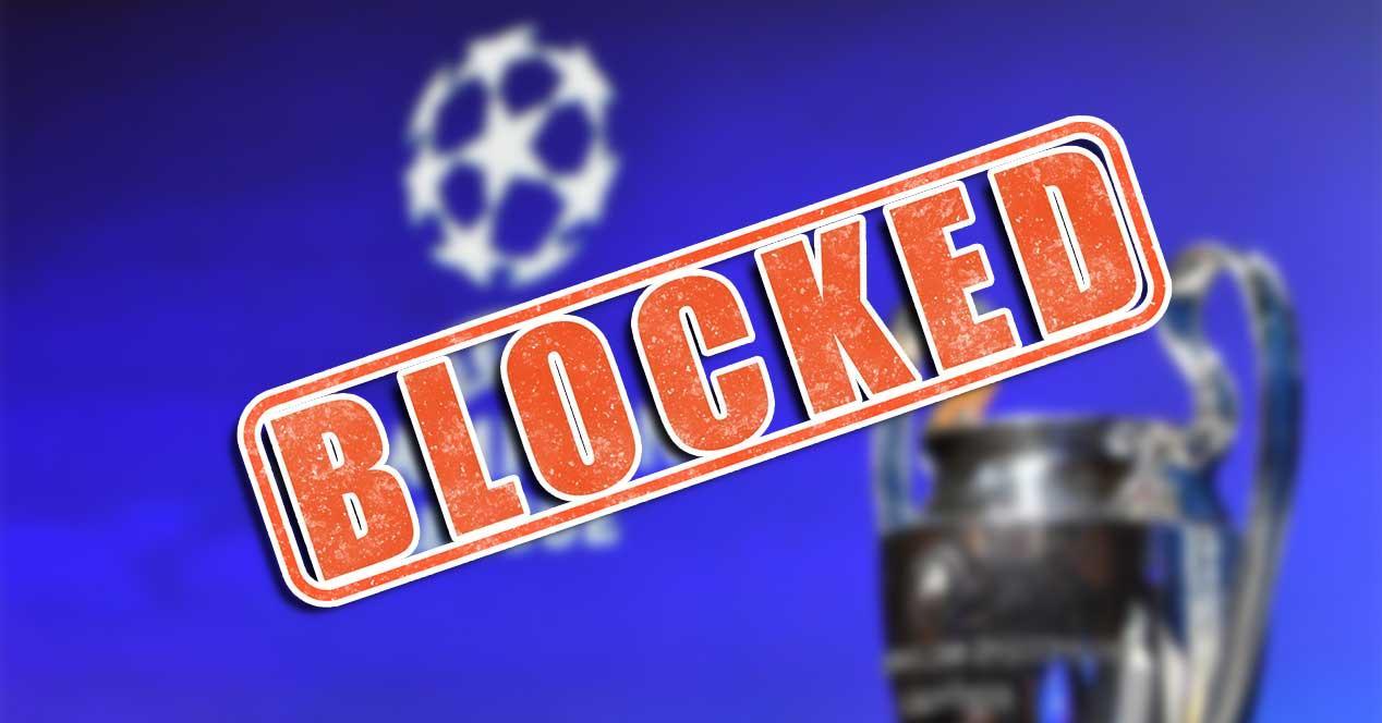 uefa champions league bloqueo futbol iptv pirata