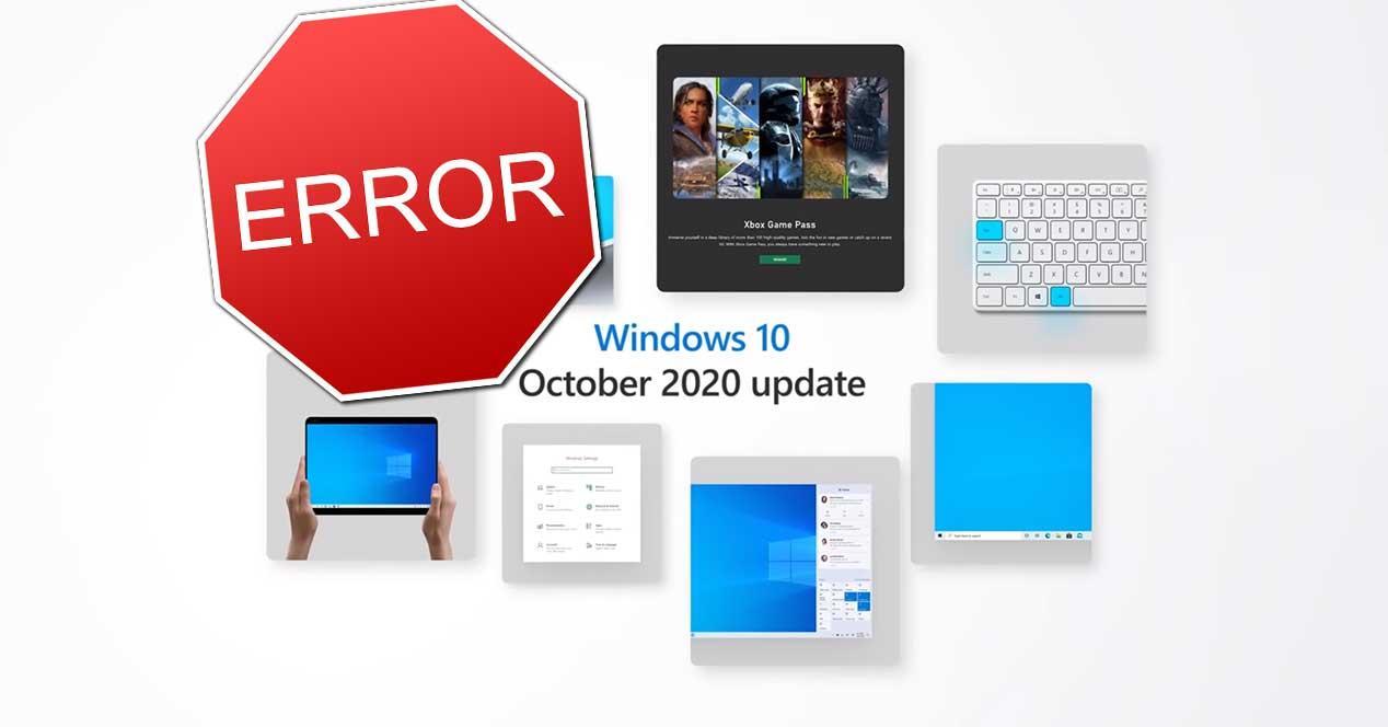 windows 10 october 2020 update error