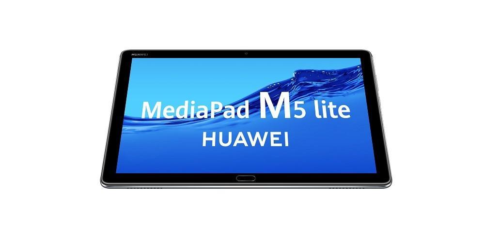 Huawei MediaPad M5 Lite vista desde abajo