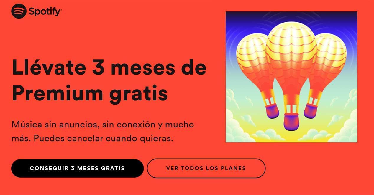 spotify 3 meses gratis