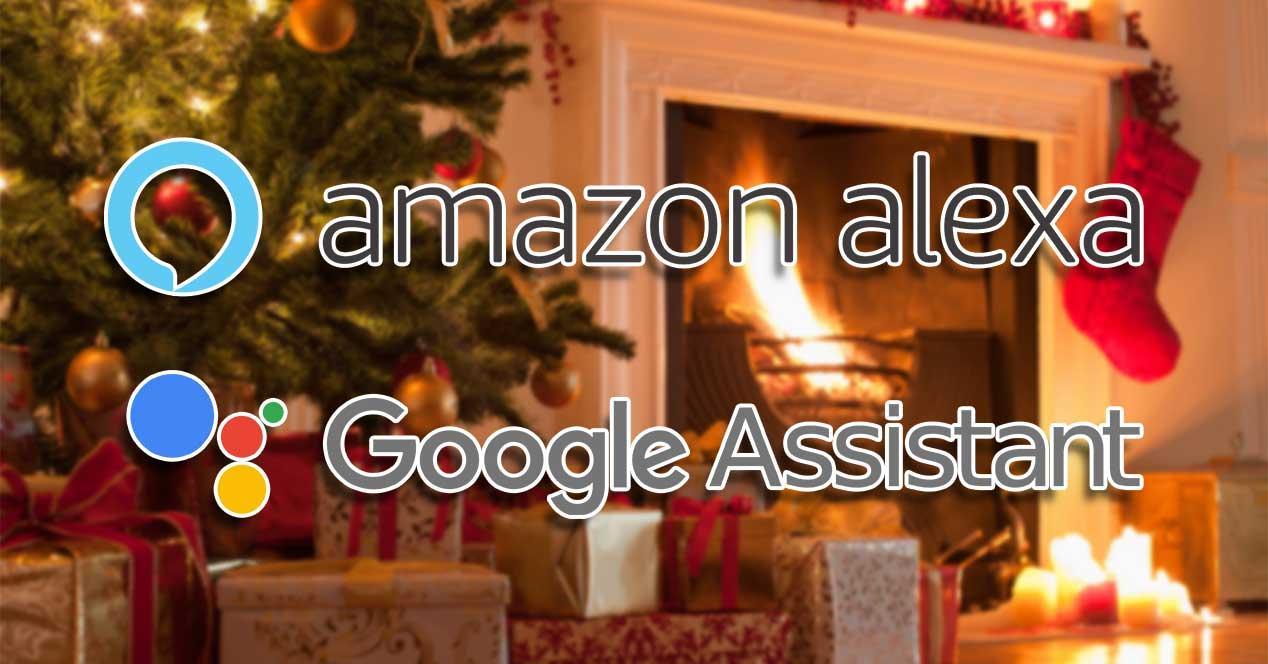 alexa google assistant navidad