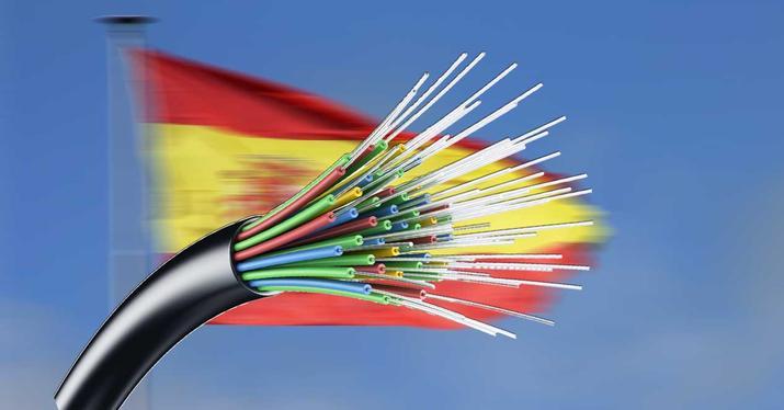 Vitesse de la fibre en Espagne