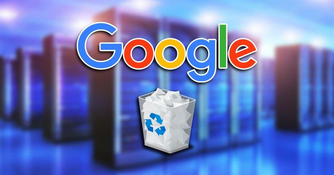 google borrar archivos