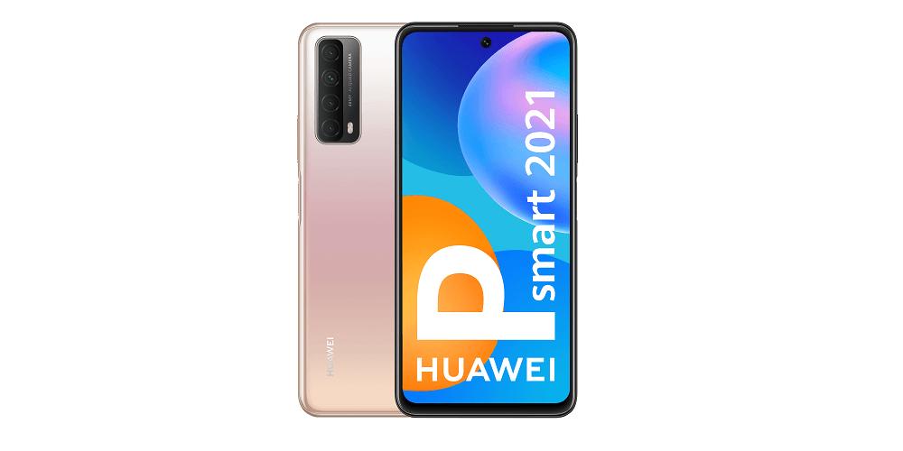 Huawei P Smart 2021 vista trasera y delantera