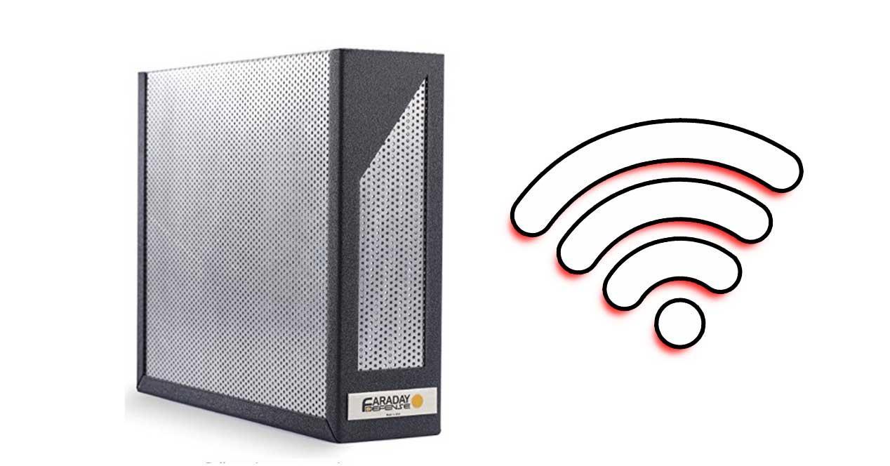 jaula faraday wifi router