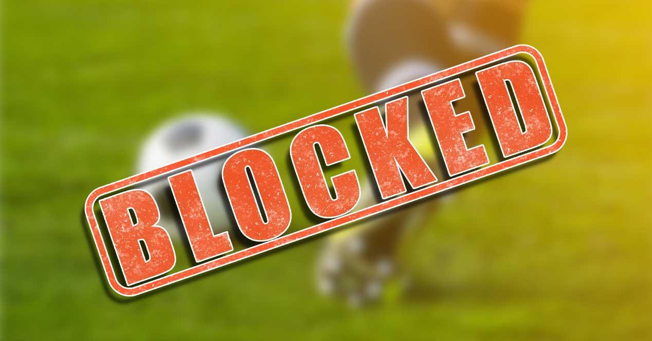 web bloqueada futbol