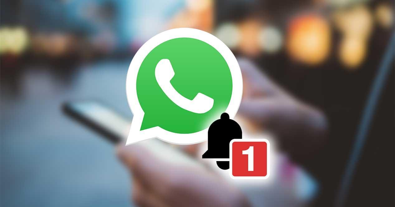 anúncio de notificação de whatsapp