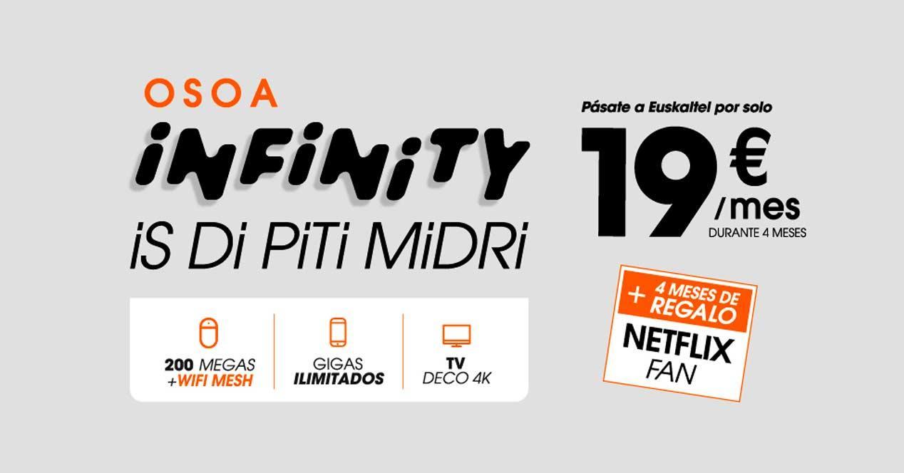 OSOA Infinity con Netflix