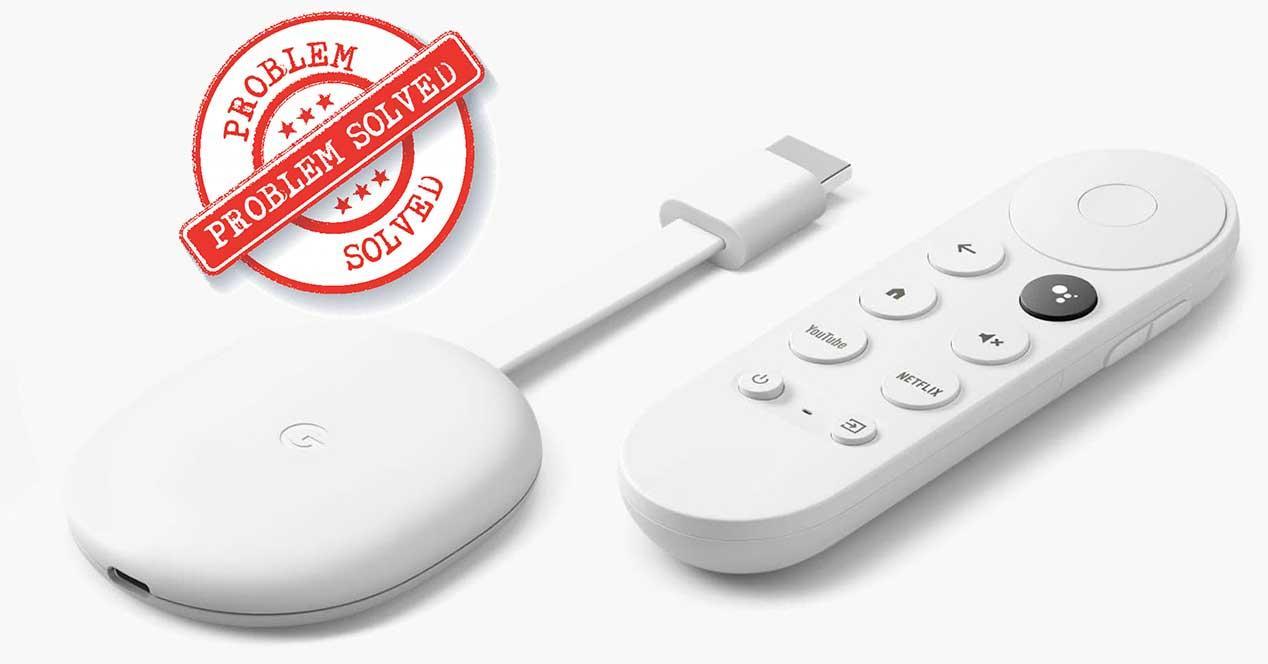 chromecast google tv solucion errores
