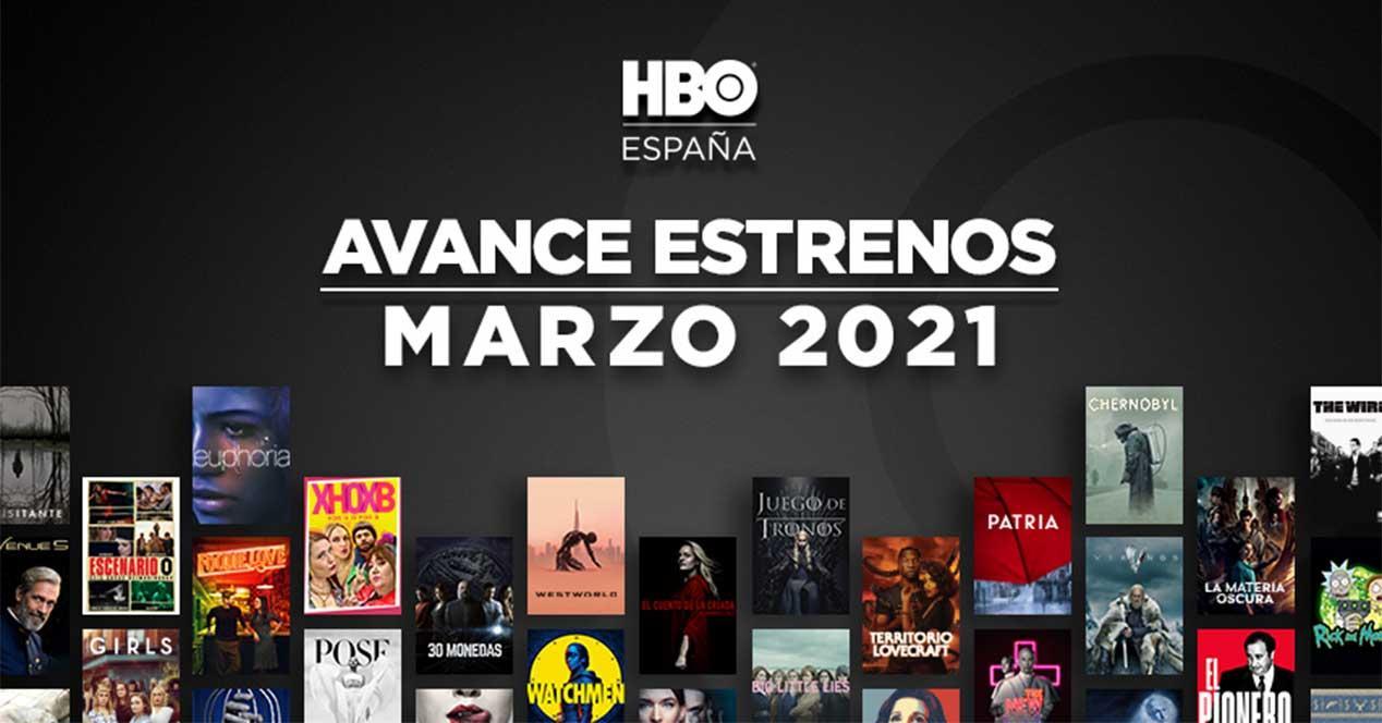 hbo estrenos marzo 2021