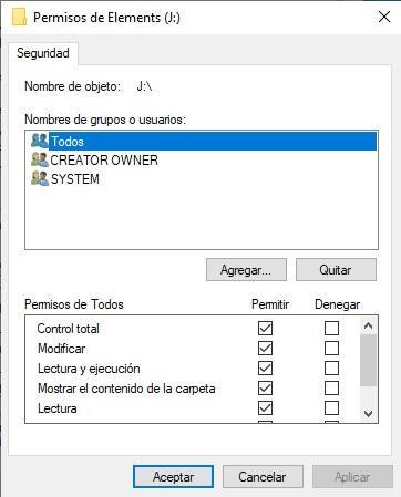 Modo lectura en un USB