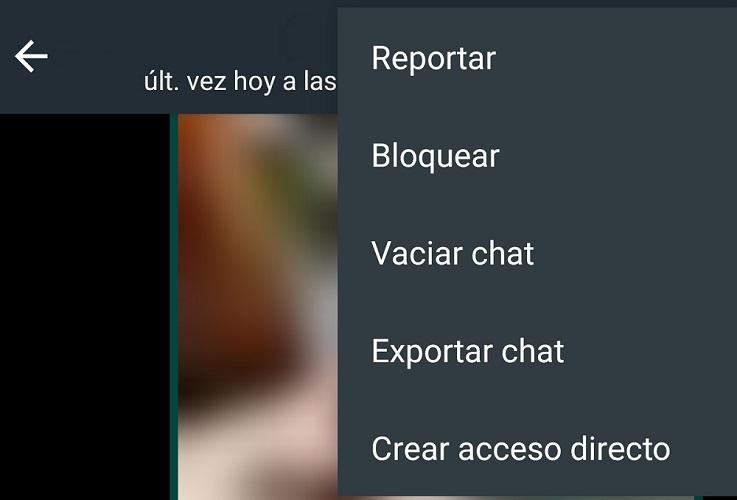 Menú WhatsApp