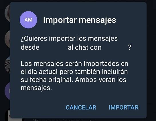Exportar chats Telegram