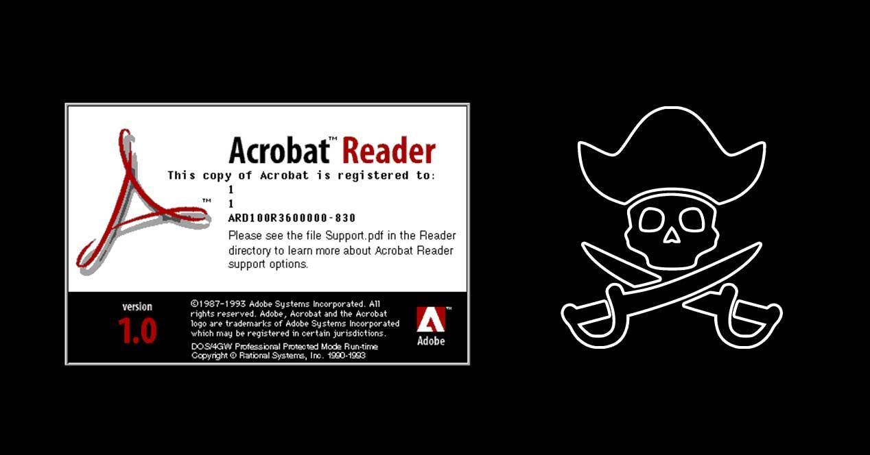 acrobat reader 1.0 pirateria