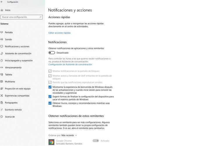 cómo configurar, activar y desactivar las notificaciones en Windows 10