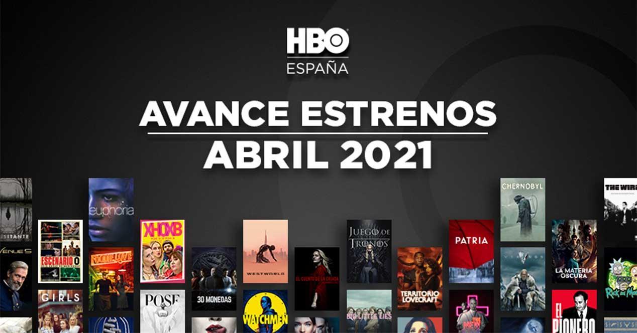 hbo estrenos abril 2021