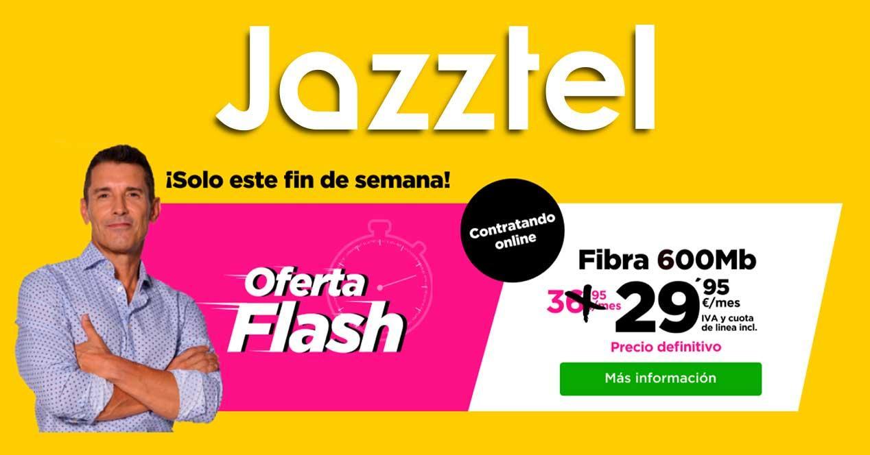 jazztel oferta fibra 600 mbps marzo 2021