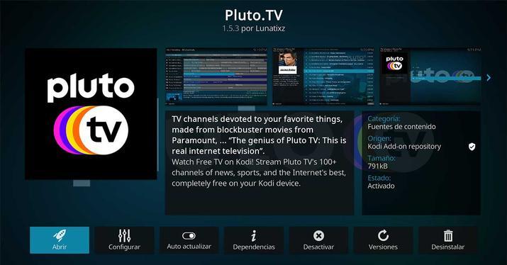 Cómo ver los canales gratis de Pluto TV en Kodi — Alberto García