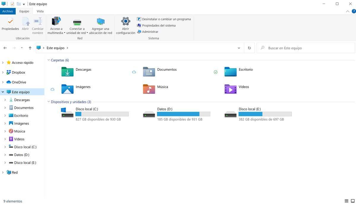 windows 10 nuevos iconos explorador de archivos