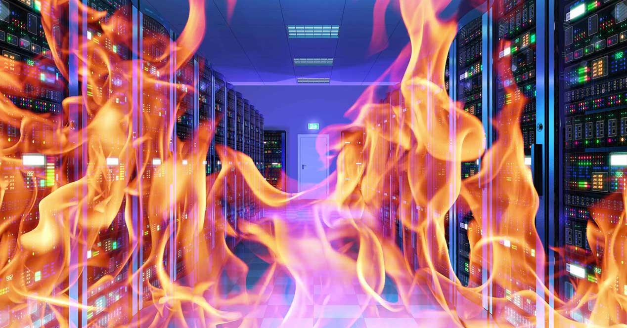 incendio servidores centro datos
