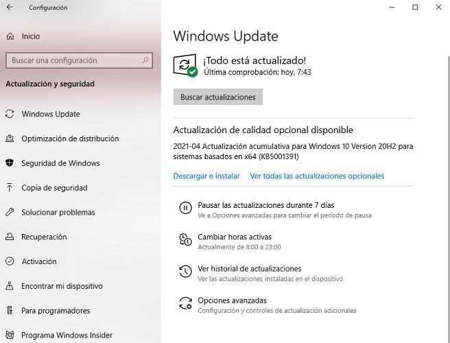 Actulizaciones Windows 10