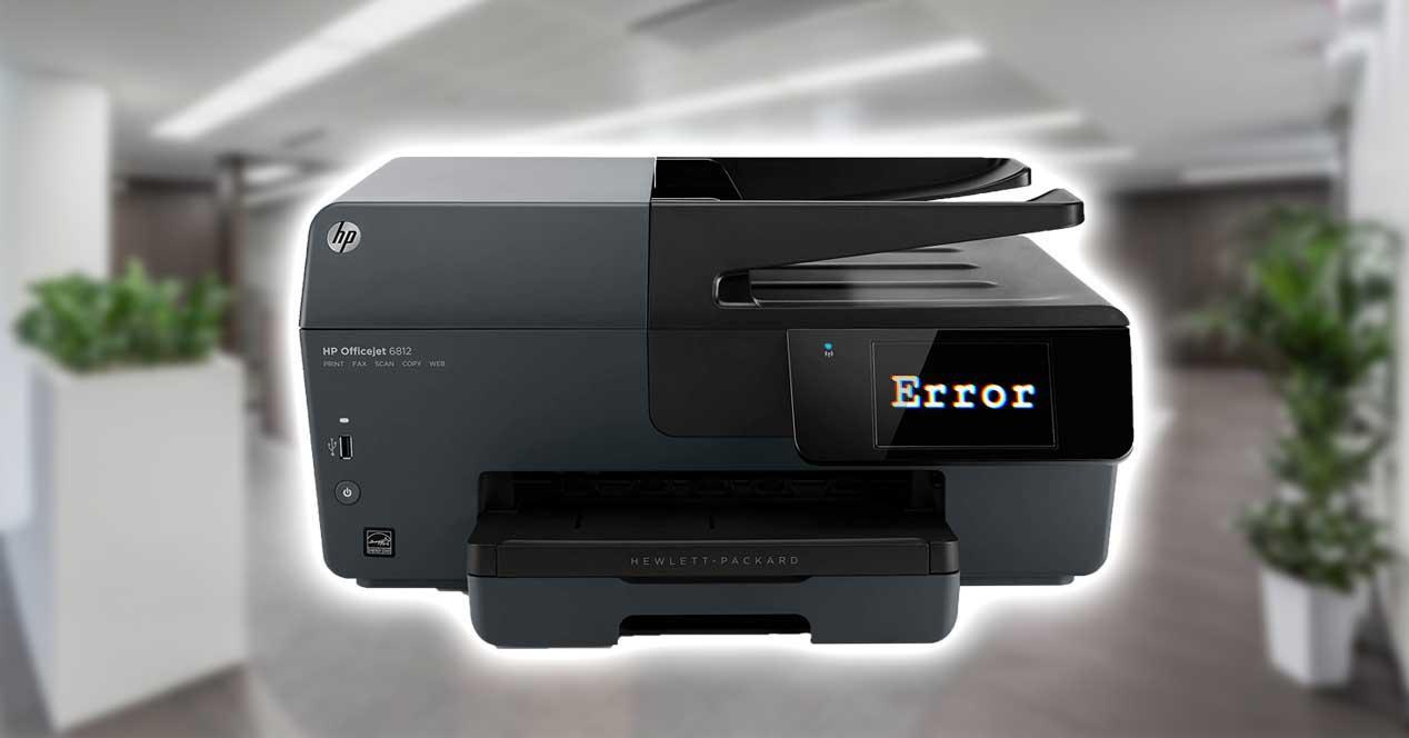 hp impresora error