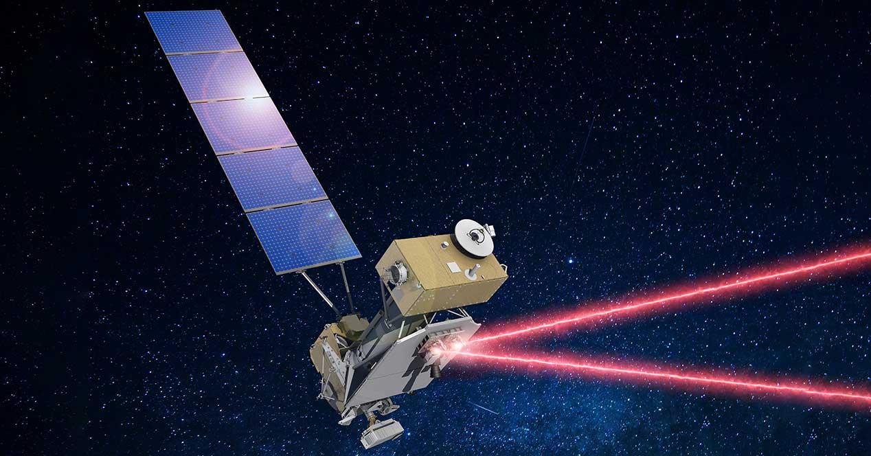 nasa laser espacio