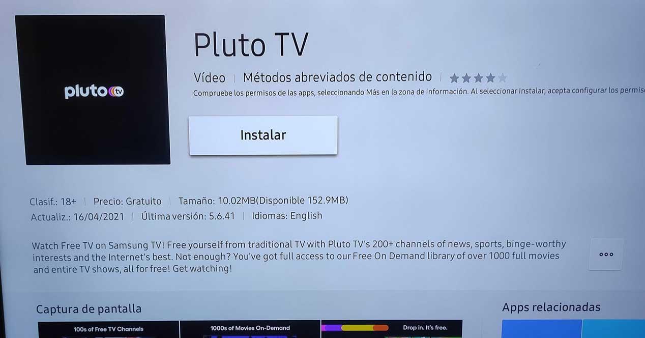 pluto tv smart tv samsung