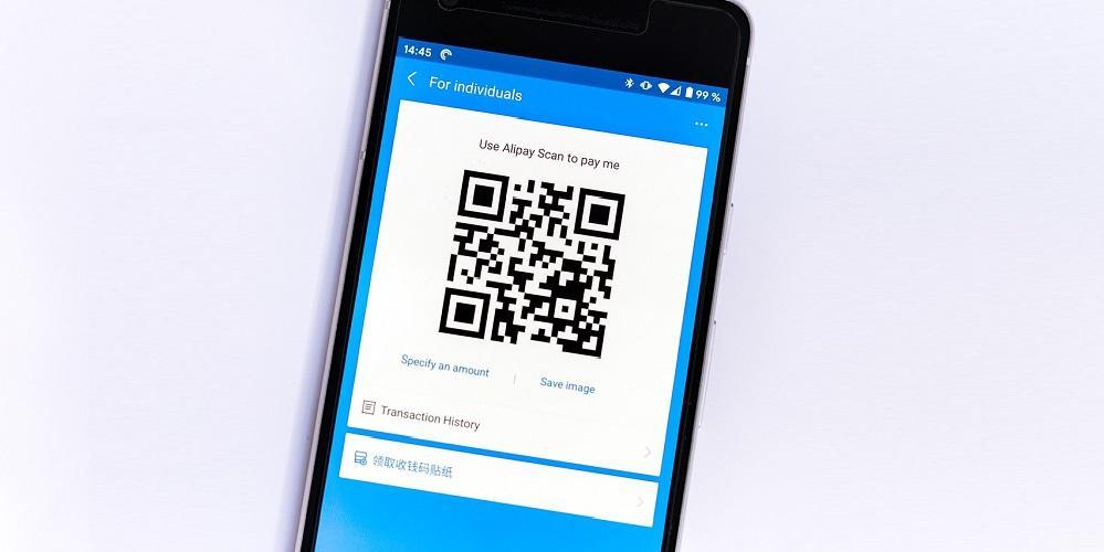 Code QR sur un smartphone