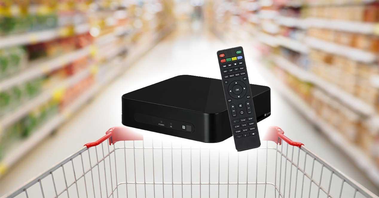 reproductor iptv supermercado